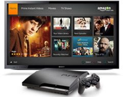 PlayStation 3 menu for Amazon Prime streaming videos