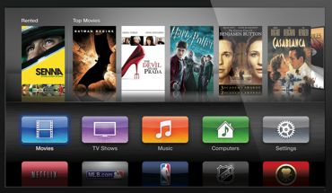 third generation apple TV onscreen menu