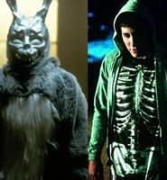 Jake Gyllenhaal with Frank in Donnie Darko