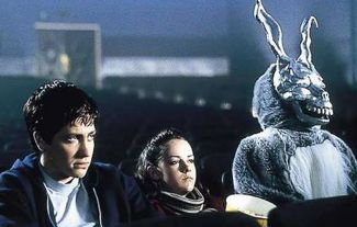 donnie darko in theater with Frank the Rabbit