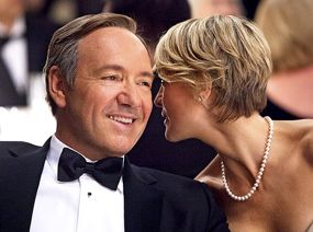 Emmy nominees Kevin Spacey and Robin Wright of House of Cards on Networks
