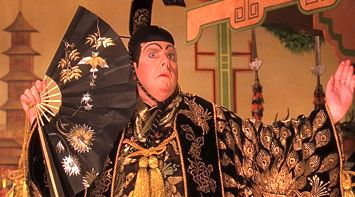 Timothy Spall as actor playing the mikado