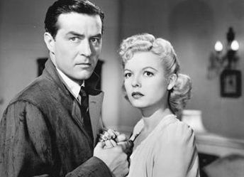 "Ray Milland and Marjorie Reynolds in ""Ministry of Fear"""