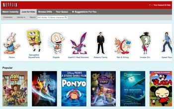 Netflix childrens section