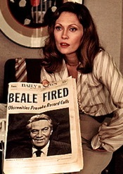 Faye Dunaway in Blu-ray version of Network
