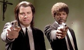 john travolta and samuel jackson in Miramax's pulp fiction
