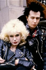 gary oldman as sid vicious with nancy actress