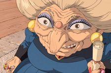 scary grannie in Miyazaki film