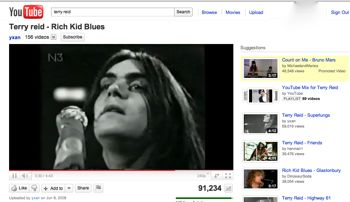 youtube video viewing image with singer